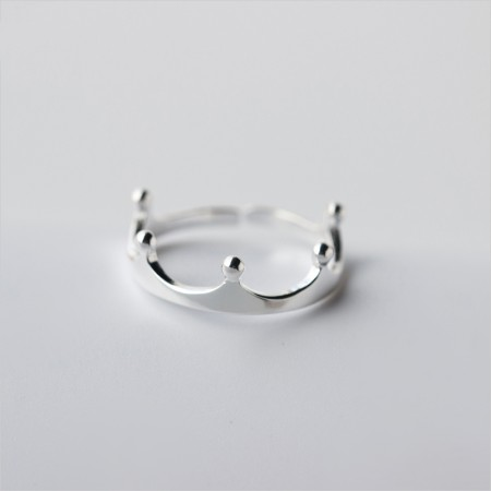 Lovely Fresh Literary Temperament 925 Silver Crown Ring
