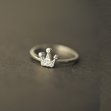 925 Silver New Fine Cute Crown Ring