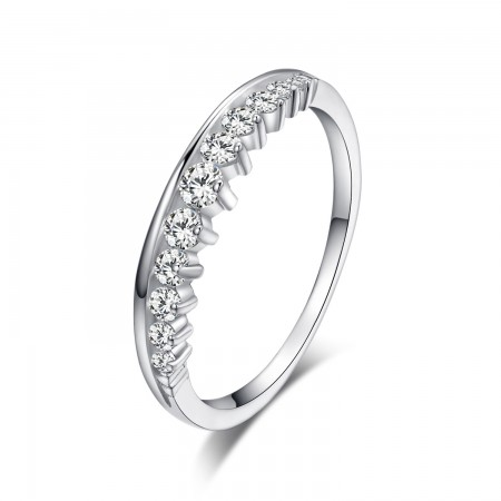 Upscale Beautifully Packaged S925 Silver Simple Crown Ring