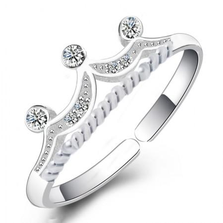 S925 Silver Korean Creative Fashion Crown Ring