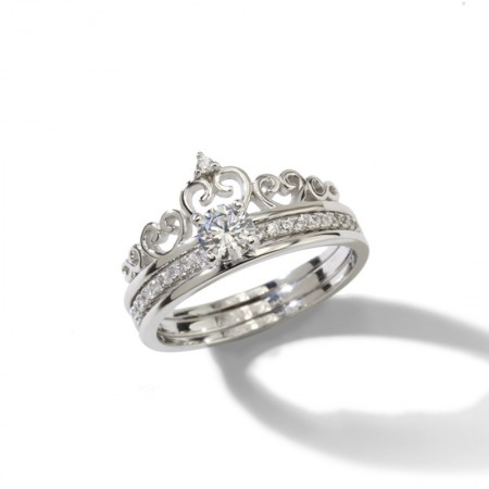 Design Romantic Gifts For Love 925 Sterling Silver Crown Ring