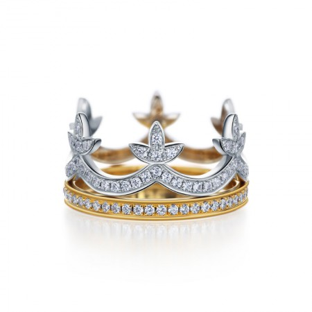 New German Bright Polished 925 Silver Classic Crown Ring