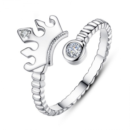 Free Laser Engraving Retro Jewelry 925 Silver Crown Ring