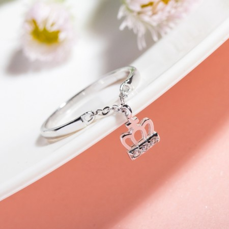 Original Design Sweet Crown Inlaid Cubic Zirconia S925 Sterling Silver Ring