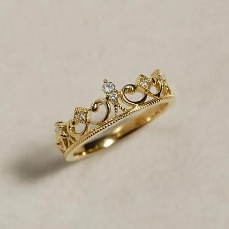 925 Sterling Silver Fashion Wild Retro Baroque Princess Crown Ring
