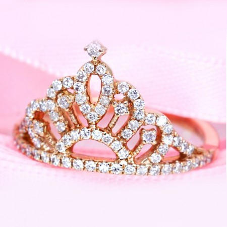 Elegant And Refined Microscopic Setting Sona Gemstones Crown Ring