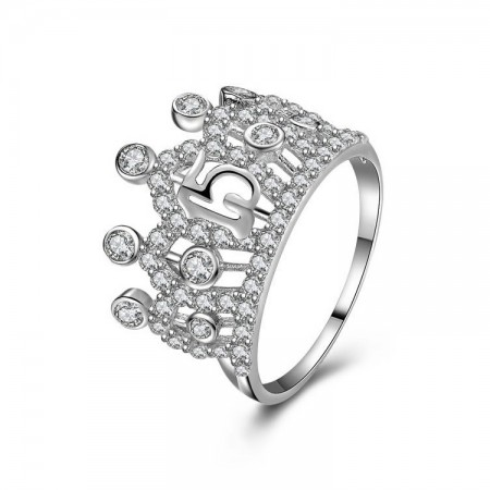 New Popular Hot Sale 925 Sterling Silver Crown Ring With Cz