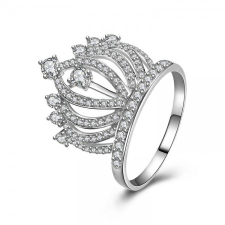 925 Sterling Silver Korean Version Of High-End Fashion Crown Ring