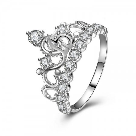 New Hot Sale 925 Sterling Silver Fashion Queen Temperament Crown Ring