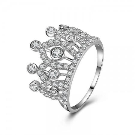 Europe Luxury Hot Sale 925 Sterling Silver Crown Ring