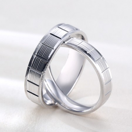 The Perfect Gift For Lover S925 Silver Eternal Mirror Polished Couple Rings