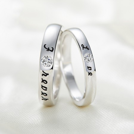 Korean Version Of Sweet Confession Opening Couple Rings With 925 Silver