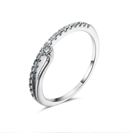 New Gift Flower Buds 925 Silver Inlay Shining Cubic Zirconia Woman's Ring