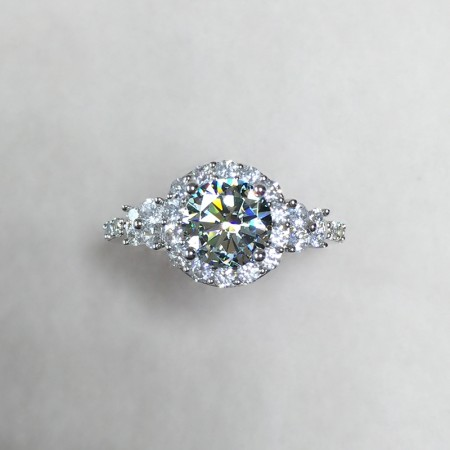 Intellectuality Elegant New Group Of Luxury Inlay 0.5ct Gemstones Engagement Ring