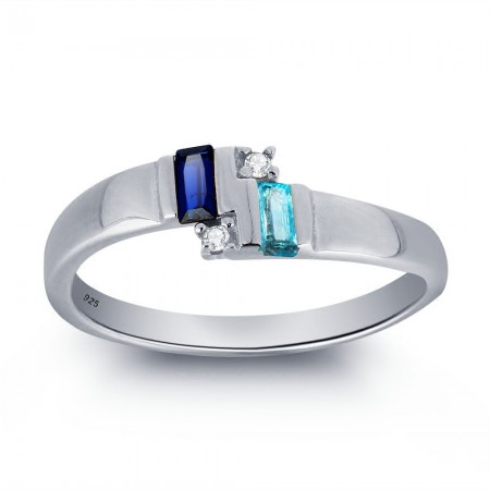 Europe Style Beautiful 925 Sterling Silver Inlaid Cubic Zirconia Engagement Ring