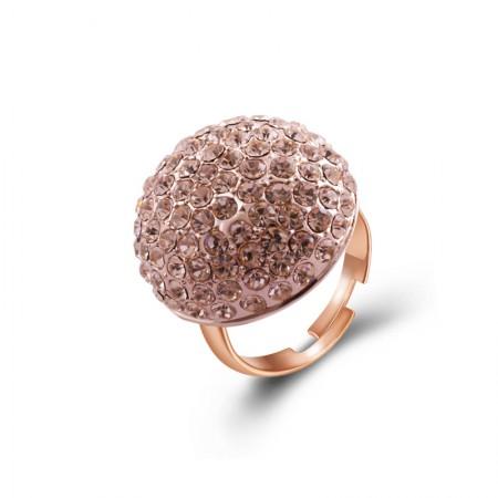 Fashion Popular Alloy Inlaid Cubic Zirconia Exaggerated Circular Ring