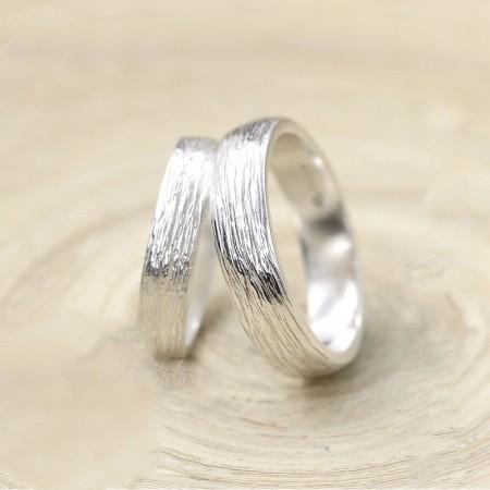 Original Design Creative Simple Handmade Silver Couple Rings