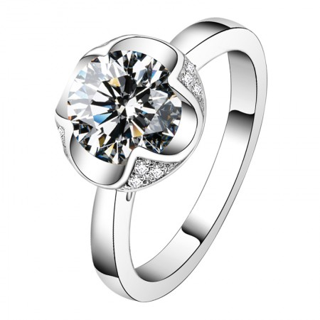 Perfect Craft Fashion Design 925 Silver Luxurious Atmosphere Engagement Ring