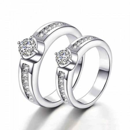Quality Assurance Fashionable Unique Design 925 Silver Couple Rings