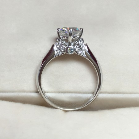 925 Sterling Silver Gold Plated Beautiful Elegant Wedding/Engagement Ring