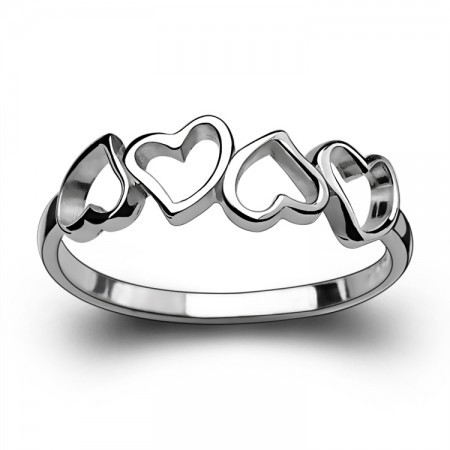 Fashion Lovely Fresh Heart-Shaped 925 Sterling Silver Woman's Ring