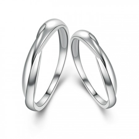 Personalized Customized 925 Silver Twisted Ring Arm New Couple Rings