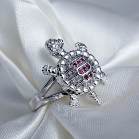Original Personality S925 Silver Cute Turtle Womans Ring