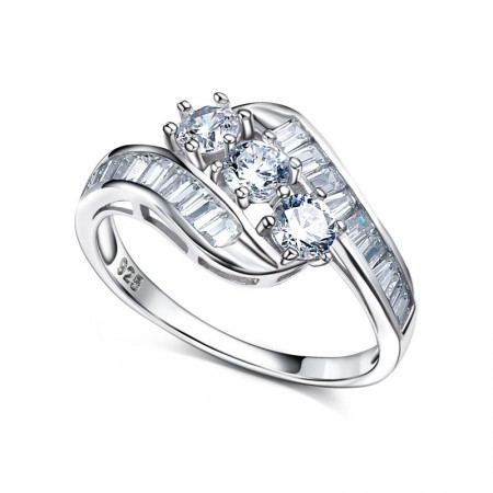 Korean Version Of 925 Silver Popular Classic Engagement Ring