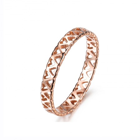 Unique Fashion Heart-Shaped Hollow Design Ring For Woman