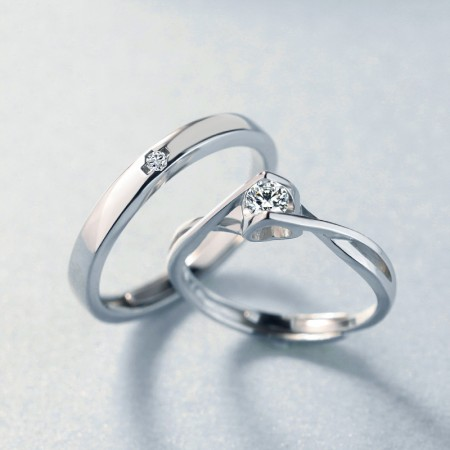 Valentine 's Gift 925 Silver Fashion Creative Couple Rings
