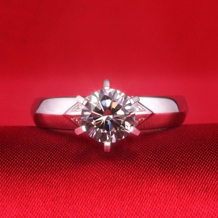 Exceptional Craftsmanship 925 Silver Superb Texture Engagement Ring