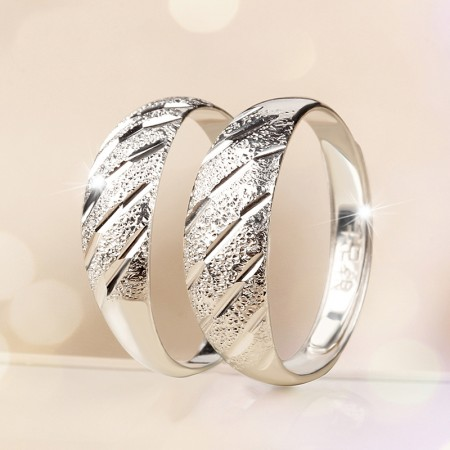 Quality Assurance 999 Silver Adjustable Couple Rings
