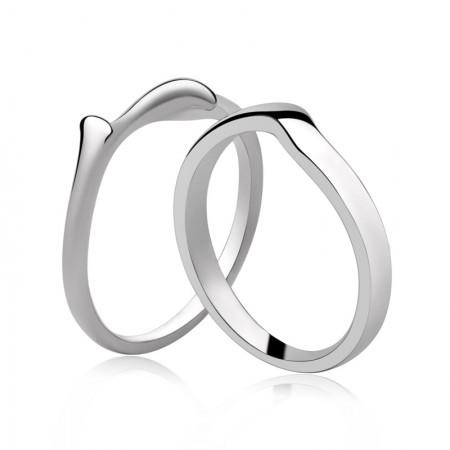 Original Simple S925 Silver Handmade Couple Rings
