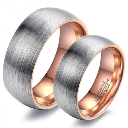 Quality Tungsten Steel Matte Two-Color Optional Couple Rings