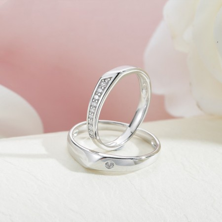 Love Keepsake Expresses Love S925 Sterling Silver Couple Rings