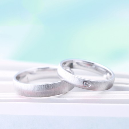 """925 Sterling Silver """"Love In My Heart"""" Couple Rings"""