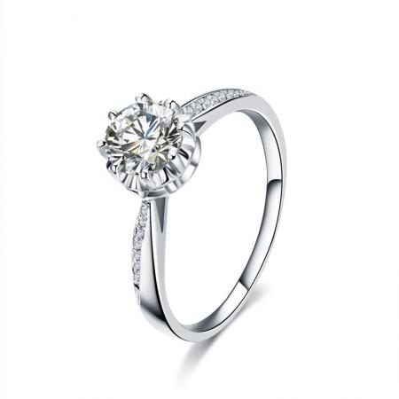 Beautiful Design 925 Silver Brilliant Luxury Engagement Ring