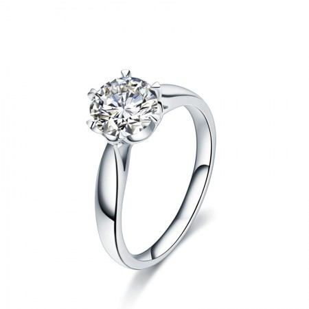 Luxury Elegant Bloom 925 Silver Engagement/Wedding Ring