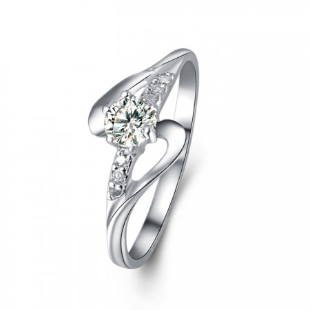Fashion Personality 925 Silver Creative Engagement Ring
