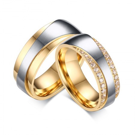 Quality Stainless Steel With Fine Polishing Couple Rings