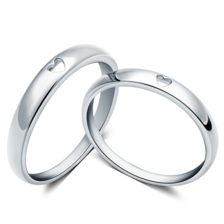 Classic Style Creative Hollow Heart-Shaped Couple Rings
