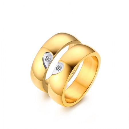 Korean Version Of The Popular Heart-Shaped Titanium Steel Couple Rings