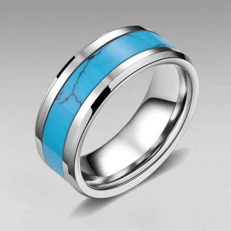 Calaite Tungsten Steel Men's Ring
