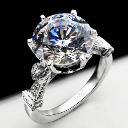 Exquisite 925 Sterling Silver Engagement Ring Wedding Brand For Women