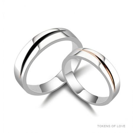 Love Bites Original Simple Design Sterling Silver Lovers Couple Rings