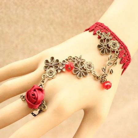 Bohemian Retro Flower Vine Style Lace Bracelet