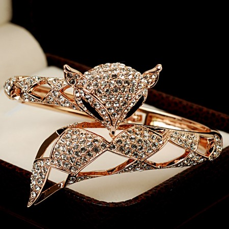 Lovely Fox-shaped Rose Gold All-match Bracelet For Women