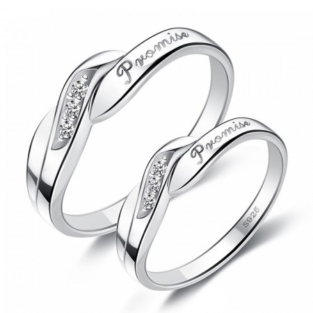 """""""My Promise""""Simple Creative Couple Rings"""