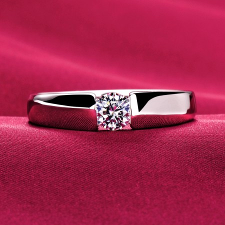 0.39 Carat Simulated Diamond Engagement/Wedding/Promise Ring For Him