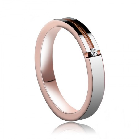 Personalized Rose Gold Plated Tungsten Unisex Simple Ring